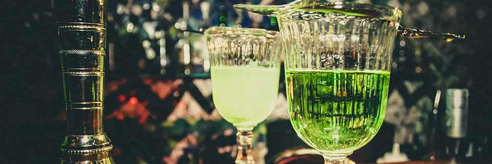 Absinthe Glasses With Absinthe